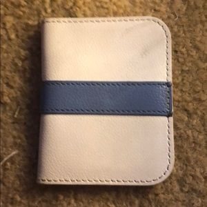 Handbags - Blue and white wallet